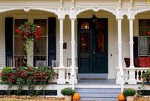 Home Exteriors / Ideas for exterior paint colors, decks and porches, brackets, railings and posts, and any other details to add beauty and interest to the exterior of our home.