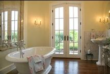 My Dream Bathroom / I always dreamed of a sunny, relaxing bathroom with sheer white curtains and a pedestal tub. Here are some ideas for future renovations.