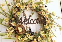 Decor: Wreath Inspirations! / A wreath is a simple way to add design to any space.  Find the perfect wreath for seasonal decorating or everyday decorating!   / by DeDe @ Designed Decor