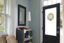Interior Paint Colors, Trims and Inspiration / A collection of paint colors, stencils, painting tips and color inspiration to help me select the right colors throughout our house.
