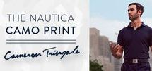 The Nautica Camo Print Collection / The Nautica Camo Print Collection. Inspired by PGA Tour Golfer and Nautica Brand Ambassador Cameron Tringale's favorite golf holes, we proudly introduce The Nautica Camo Collection.