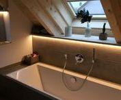 Bäder / Bäder unserer wohngesunden und ökologischen Einfamilienhäuser und Zweifamilienhäuser in Holzrahmenbauweise.