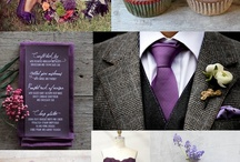 Rustic Vintage Glam Wedding / Inspiration for a purple and grey rustic wedding, with a touch of vintage glam