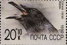 Stamps Crows & Ravens  / The House of Corvus - Crows and Ravens published, Books, Films, Poetry, Stamps, Posters.