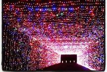 Prairie Lights Grand Prairie, Texas / Be dazzled as you drive through 4 million lights set along 2 miles of path. Hundreds of ALL-NEW displays in shapes of all kinds line and arch over the roads. Half way through the drive get out of your car for a stop at Holiday Village where you will find food, gifts, Santa, Lighted Walk-Through Forest and a holiday theater spectacular. The finale of the show is the world's largest light tunnel. Open Thanksgiving Day to New Years Eve. / by Grand Prairie Texas