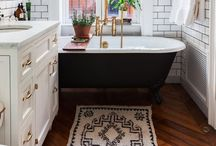 H O M E : Bathrooms / Dreamt bathroom decor ideas and inspiration, from storage and DIY ideas to fixtures and fittings.