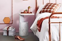 H O M E : Rose Gold / Rose gold style decor and accessories around the home.