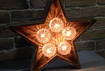 """Loft светильник ночник / Светильник ночник лофт """"звезда """". Изготовлен из дерева.  Плавная регулировка яркости. Работает от сети."""