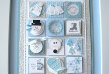 Stampin' Up! Collage Samplers / A collection of framed collage samplers made with Stampin' Up! products.