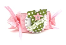 Stampin' Up! Candy Wrapper Die Ideas / Stampin' Up!, Big Shot, Candy Wrapper Card and Craft Ideas, Big Shot, Krystal De Leeuw