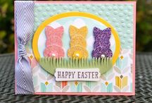 Krystal's Cards Stampin' Up! Easter Cards / Stampin' Up! Easter Cards by Krystal De Leeuw at Krystal's Cards. Find me on FB and IG #krystals_cards. Visit my SU! website to purchase products: http://www.stampinup.net/esuite/home/krystalscards/