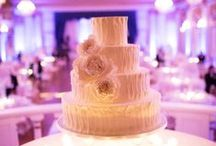 Cake, Cake, Cake! / Of course wedding cakes are delicious, but they can also be beautiful works of art! Check out these gorgeous (and yummy!) cakes -- from short to tall, funny and cute, even cupcakes!