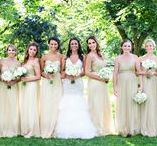 Bridesmaids! / Okay, so they aren't the star of the show -- but these lovely ladies deserve some attention too! Get inspired by these great bridesmaid's dresses!