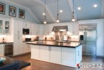 White Cabinets / Beautiful white kitchen cabinets will brighten up your kitchen and are very popular right now. / by Kitchen Resource Direct