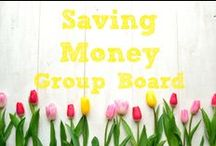 Saving Money ~ Group Board / ********Currently this board is closed to new contributors.   / by Karen ~ SavingTheFamilyMoney.com