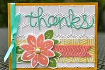 Stampin' Up! Thank You Cards / Stampin' Up! Thank You card ideas and projects.  / by Krystal's Cards - Stampin' Up!