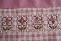 Embroidery_chicken scratch / chicken scratch embroidery