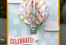 Stampin' Up! Celebrate Today / Cards, projects, ideas using the Celebrate Today stamp set and matching Balloon Framelit dies.