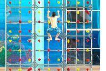 Pool Climbing Walls / Climbing walls for swimming pools!