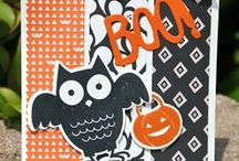 Stampin' Up! Howl-o-ween Treat / Cards, craft projects and gift ideas using the Halloween stamp set, Howl-o-ween Treat #139690 pg. 49 and the coordinating Boo to You Framelits dies #139663 pg. 49 from the Handmade for the Holidays Stampin' Up! holiday catalog. To purchase, please visit my Stampin' Up! website: http://www.stampinup.net/esuite/home/krystalscards/