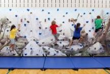 Mural Climbing Walls / Climbing walls with beautiful murals!