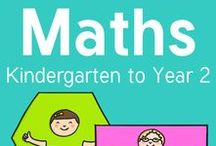 Maths/Numeracy (Kindergarten - Year 2) / Maths/numeracy resources and ideas for Early Years (Kindergarten) to the end of Stage 1 (Year 2).   Addition, Subtraction, Numbers, Time, Calendars, Mass, Length, Area, Patterns, Shapes, Hands on Activities, Classroom Displays and much more!