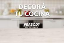 Cocinas / Porque todos pasamos mucho tiempo en ese espacio de encuentro, en donde compartimos momentos y cocinamos junto a nuestros productos Peabody.
