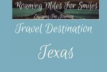 Travel USA Texas / Texas Travel Destinations| things to do | Texas Vacations | Must see Texas | RVing | http://roamingmilesforsmiles.com | to be added as collaborator join Facebook Group Traveling Pinners