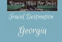 Travel USA Georgia / Georgia Travel Destinations| things to do | Georgia Vacations | Must see Georgia | RVing | http://roamingmilesforsmiles.com | to be added as collaborator join Facebook Group Traveling Pinners