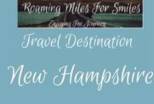 Travel USA New Hampshire / New Hampshire Travel Destinations| things to do New Hampshire | Weekend Getaway | New Hampshire Vacations | Must see New Hampshire | RVing | http://roamingmilesforsmiles.com | to be added as collaborator join http://Facebook.com/Group/TravelingPinners