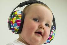 Mini Muffs / Baby earmuffs to fit under 2 years - keep their hearing safe in Class 4, adjustable-for-growth earmuffs! Baby Banz Mini Muffs are especially designed for soft baby heads, putting minimal pressure over the head. Your baby is safe in Mini Muffs!