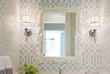 Wallpapered Bathroom / by Erin Olson Moser