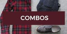 Combos / Combos de moda masculina, com inspiração e referência de como combinar sua roupa, sapato, acessórios e companhia.