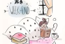 Illustration : Weekend & Relax Time