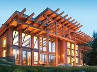 Modern/Rustic Mix / Modern design mixes with rustic tradition to create picture-perfect homes.