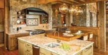 Log Cabin Kitchens / Cook, eat, and play in these elegant, cozy kitchens
