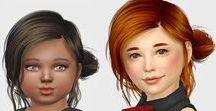 Cabelos / Cabelos personalizados para The Sims 4