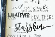 Lettering & Typography / Ideas for hand lettering and typography.