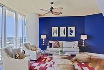 Colorful Spaces / Color enriches our lives. It gives adds depth and defines the space.  / by Mary Cook Associates