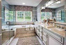 Beautiful Bathrooms / A well designed bathroom should make you feel like you are treated to a spa day, everyday.