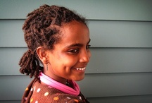Locs and Curls / I love my Ethiopian girls' curls.  One daughter likes to wear her hair in curls, and the other has locs.  www.onethankfulmom.com