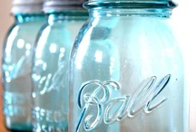 Ball Jar Blue: Fave Color / My very favorite color. It makes me feel peaceful and happy.