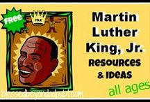 Martin Luther King School Ideas / a bunch of FUN ideas and resources to teach your kiddos about Martin Luther King, Jr. / by Blessed Beyond a Doubt