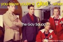 The Gay Squad. / Best Glee Lines and Moments from Brittany, Santana, Kurt and Blain.