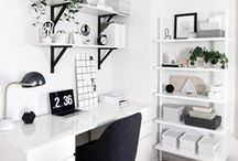 Office Space Ideas / Beautiful office space ideas that are functional too.