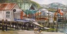 Judy Langham / Judy Langham is current president of the Wellington Art Club. previously worked for Televison NZ before becoming self-employed as a graphic artist. She has dabbled in oils and acrylics all her life and recently branched into watercolour.