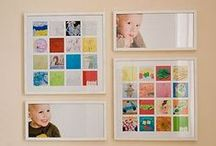 How To... Display Kids Art / display that special art your children make for you... they will be so proud to see it in a special place!
