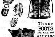 Ben's Boots / This stampsheet can be pre-orderd at www.artjourney.nl