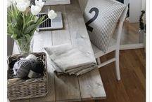 home: primitive with modern / plank tables, desks, metal, found art, primitive, folk art, rustic, antique, eco, recycled wood, elements for decor