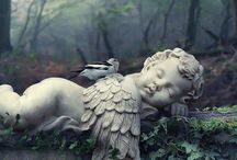 ANGELS / Millions of spiritual creatures walk the earth  Unseen, both when we wake and when we sleep. ~John Milton, Paradise Lost  / by Bellalagoo .